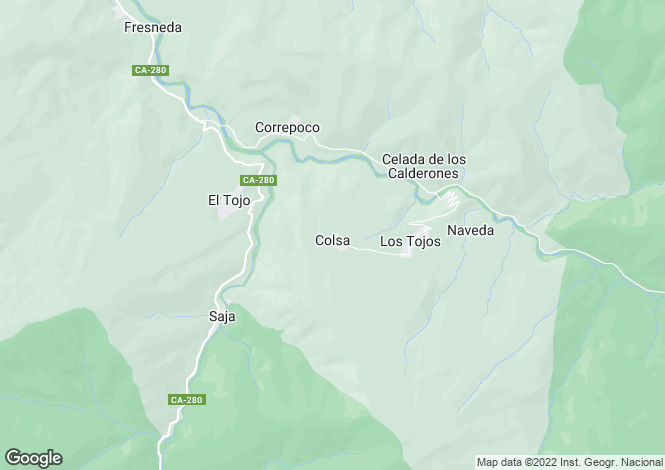 Map for Los Tojos, Santander, Cantabria