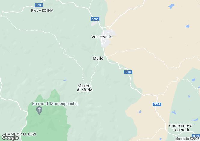 Map for Murlo, Siena, Tuscany