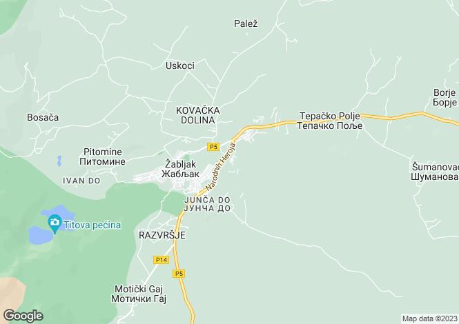 Map for Zabljak