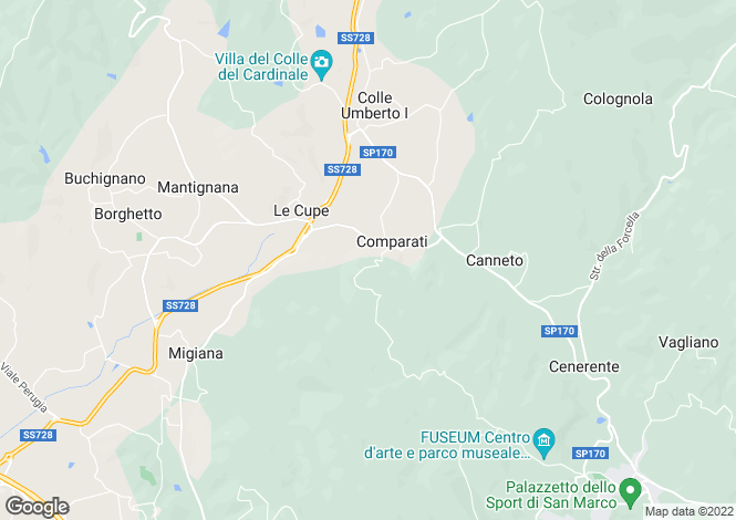 Map for Perugia, Perugia, Umbria