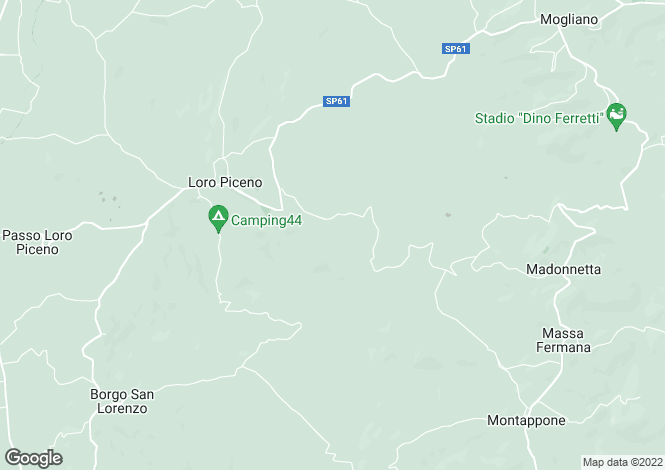 Map for Loro Piceno, Macerata, Le Marche