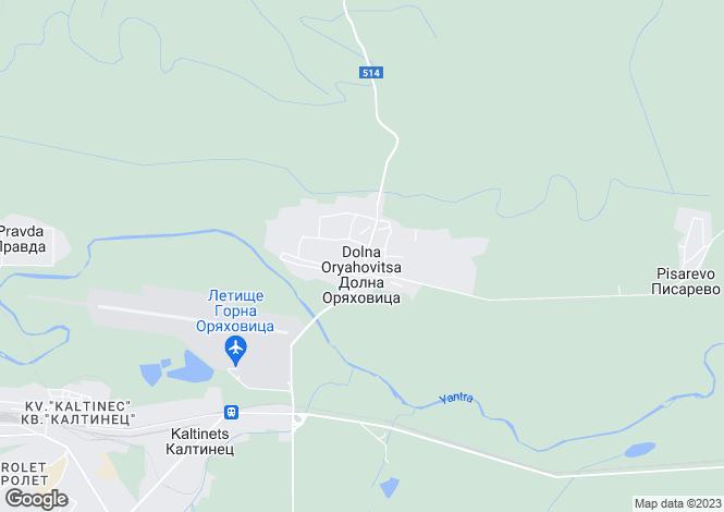 Map for Veliko Tarnovo, Gorna Oryakhovitsa