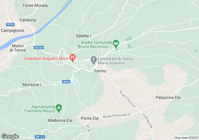 Map for Fermo, Le Marche, Italy