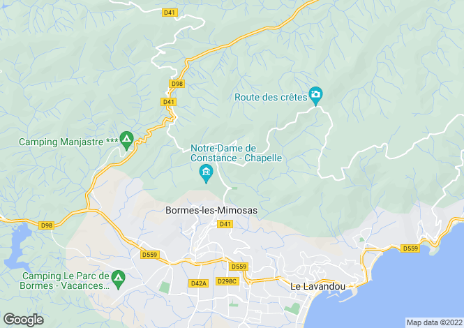 Map for Bormes-les-Mimosas, 83230, France
