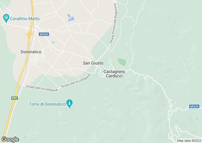 Map for Castagneto Carducci,Italy