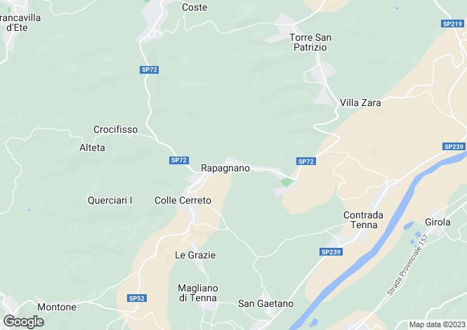 Map for Le Marche, Fermo, Rapagnano
