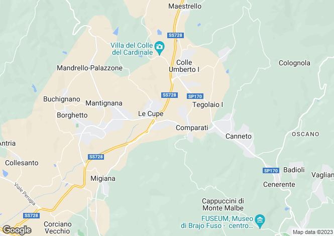 Map for Corciano, Perugia, Umbria