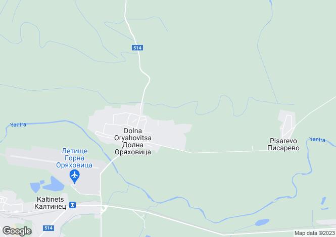 Map for Dolna Oryakhovitsa, Veliko Tarnovo