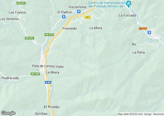 Map for Pola de Lena