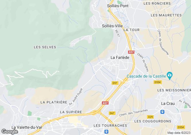 Map for La Farlede, Provence-Alpes-Cote D'azur, 83210, France