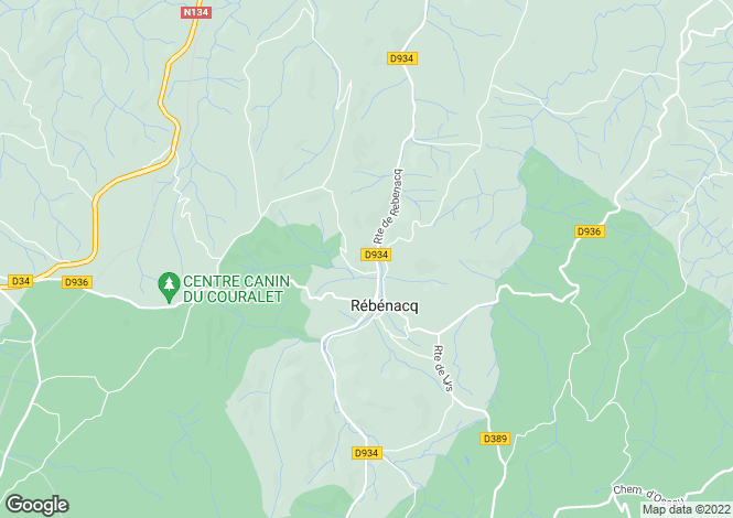 Map for rebenacq, Pyrénées-Atlantiques, France