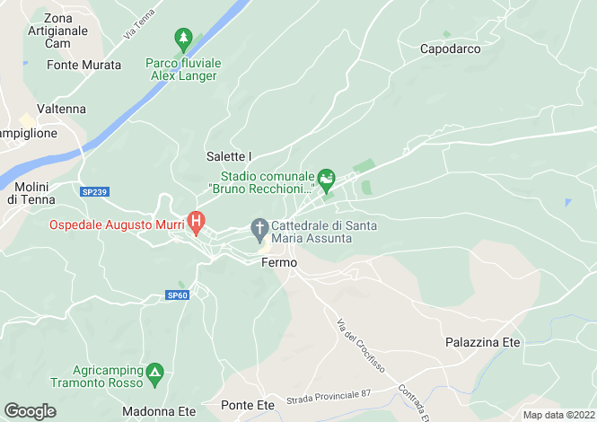 Map for Fermo, Fermo, Le Marche