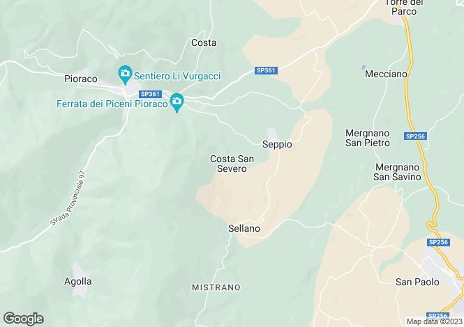 Map for Italy - Le Marche, Macerata, Camerino