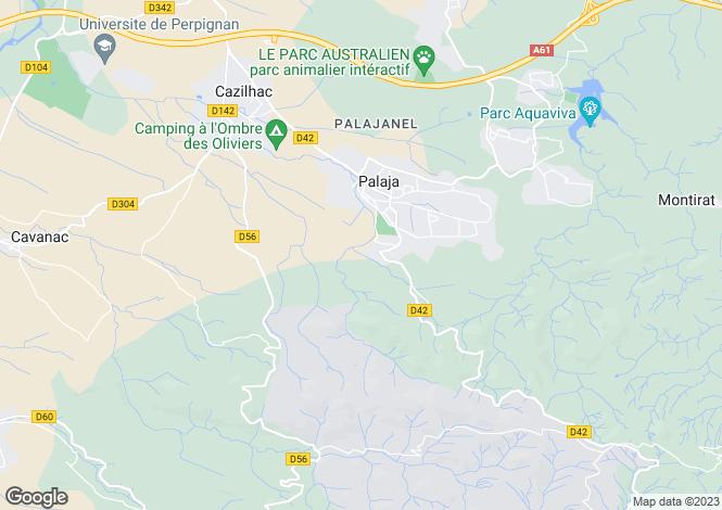 Map for Languedoc-Roussillon, Aude, Palaja
