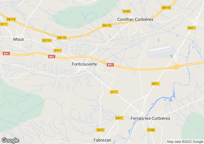 Map for fontcouverte, Aude, France