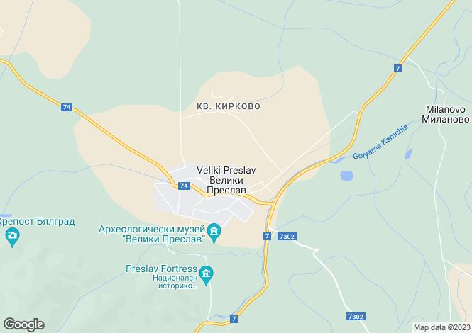 Map for Veliki Preslav, Shumen