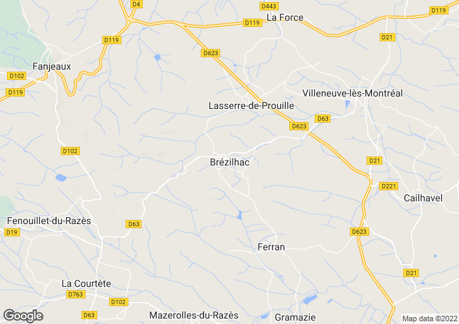 Map for Brezilhac, Languedoc-Roussillon, 11270, France