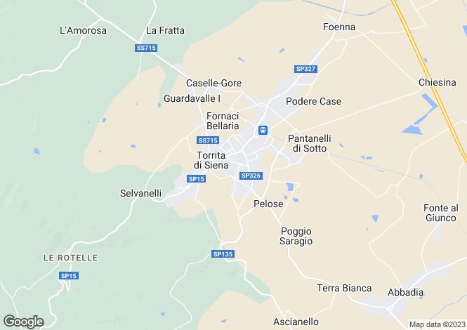 Map for Torrita Di Siena, Tuscany, Italy