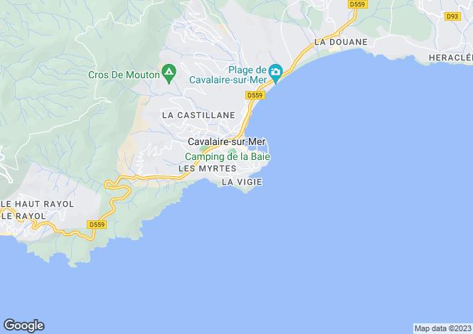 Map for Provence-Alps-Cote d`Azur, Var, Cavalaire-sur-Mer