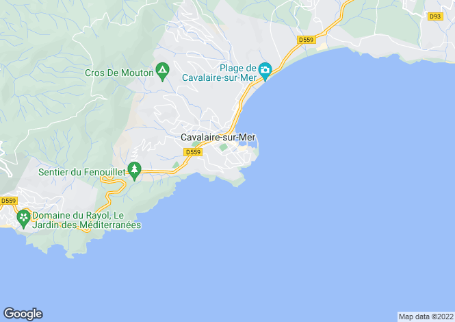 Map for Provence-Alps-Cote d`Azur, Var, Cavalaire-sur-Mer