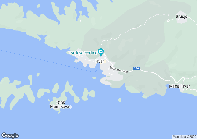 Map for Split-Dalmacija