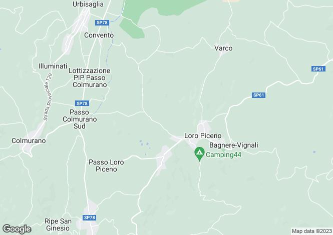 Map for Loro Piceno, Macerata, Le Marche