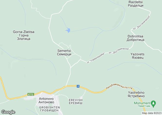 Map for Antonovo, Targovishte
