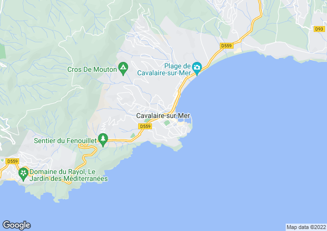 Map for Cavalaire-Sur-Mer, Var, 83240, France