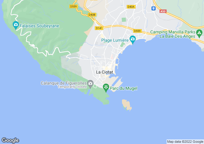 Map for LA CIOTAT, Provence Coast, Provence - Var,