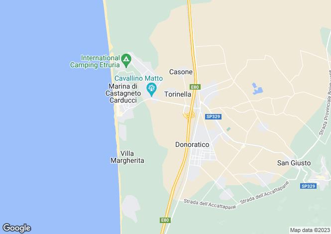 Map for Castagneto Carducci, Livorno, Tuscany