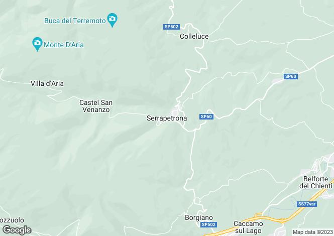 Map for Serrapetrona, Macerata, Le Marche
