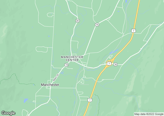 Map for Manchester, Bennington County, Vermont