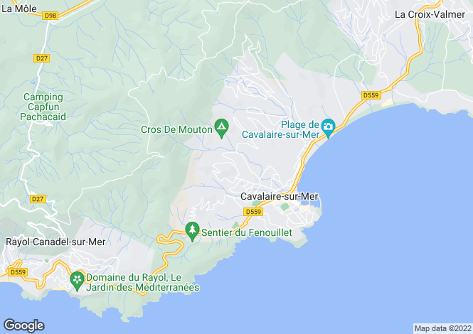 Map for Cavalaire, Saint Tropez, French Riviera