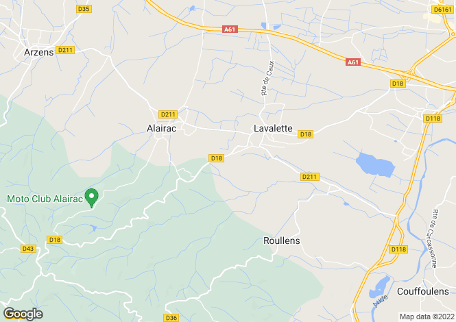 Map for Lavalette, Aude, Languedoc-Roussillon