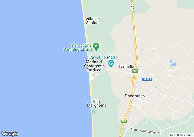 Map for Marina Di Castagneto Carducci, Tuscany, Italy