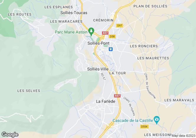 Map for Sollies-Ville, Var, 83210, France