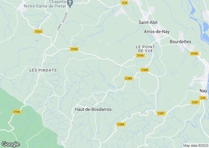 Map for haut-de-bosdarros, Pyrénées-Atlantiques, France