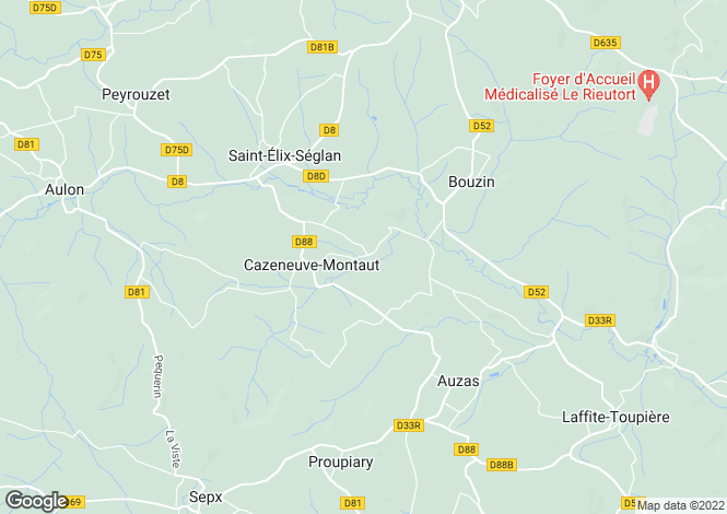Map for cazeneuve-montaut, Haute-Garonne, France