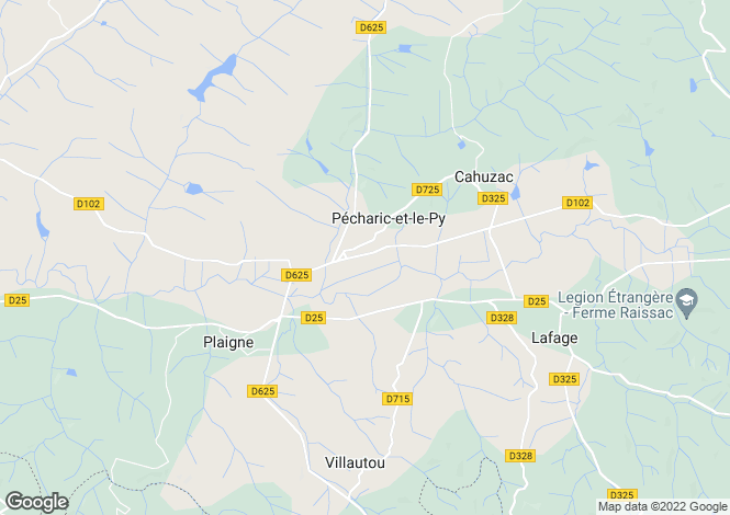 Map for pecharic-et-le-py, Aude, France
