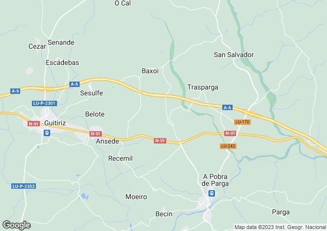 Map for Guitiriz, Lugo, Galicia