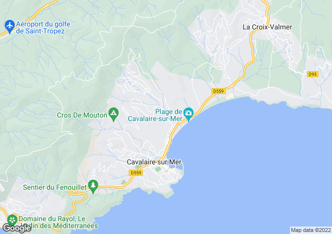Map for Cavalaire-sur-Mer, 83240, France