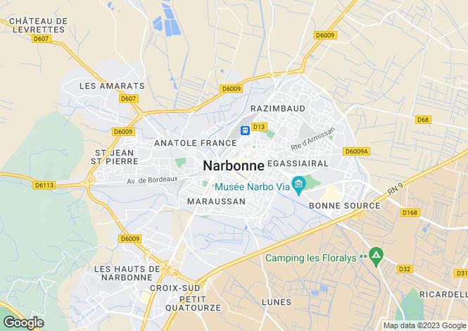 Map for Proche / Near Capendu, Aude