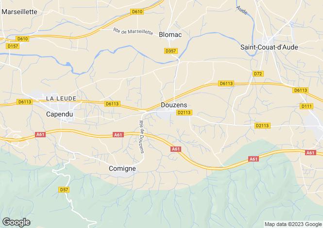 Map for Douzens, Aude, Languedoc-Roussillon