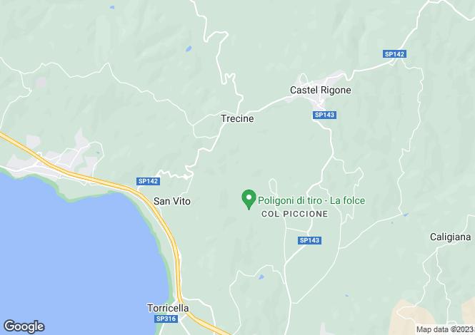 Map for Castel Rigone, Perugia, Umbria