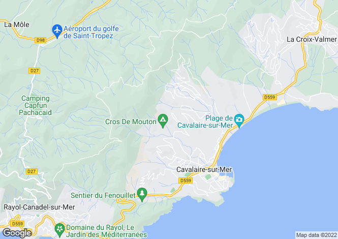 Map for Cavalaire, French Riviera, Var Coast