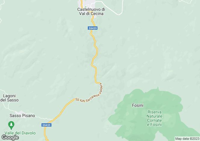 Map for Tuscany, Pisa, Castelnuovo di Val di Cecina