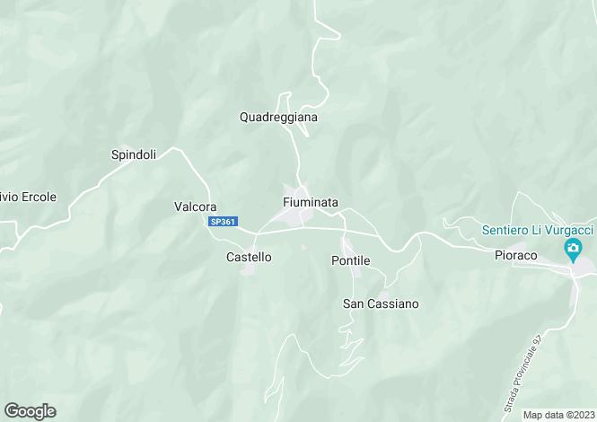 Map for Italy - Le Marche, Macerata, Fiuminata
