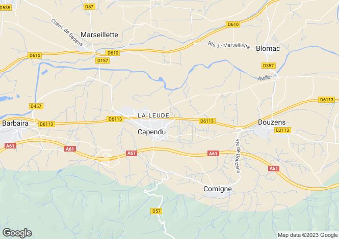 Map for Languedoc-Roussillon, Aude, Capendu