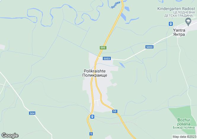 Map for Polikrayshte, Veliko Tarnovo