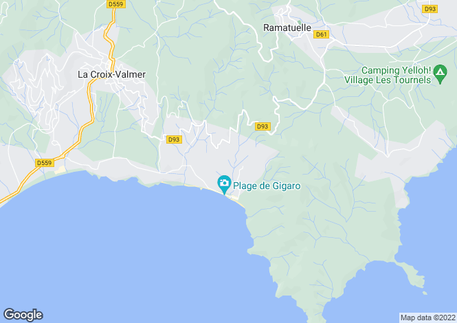 Map for La Croix Valmer, French Riviera, Var Coast